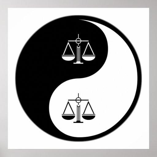 Yin Yang Law Poster