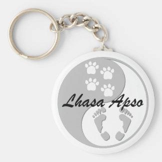 yin yang lhasa apso key ring