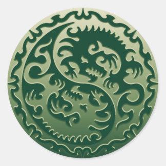 Yin Yang Magical Dragons 2 Sticker