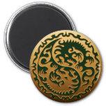 Yin Yang Magical Dragons 3 Refrigerator Magnet