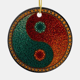 Yin Yang Mandala Christmas Ornament