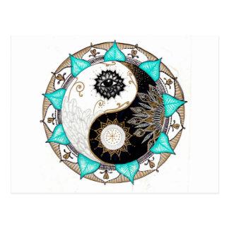 Yin Yang Mandala Postcard