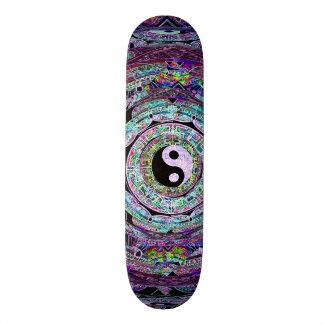 Yin Yang Mandala Purple Skate Board Deck