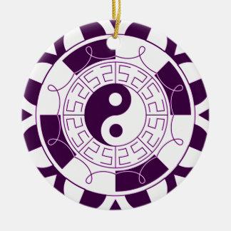Yin Yang Mandala Round Ceramic Decoration