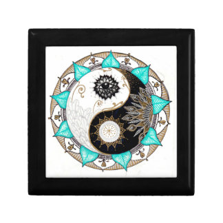 Yin Yang Mandala Small Square Gift Box