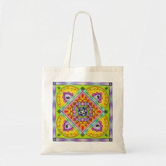 Yin Yang Mandala Tote Bag (Rainbow Colors)