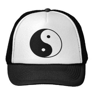 yin yang mesh hat