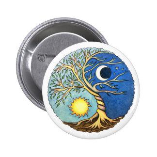 Yin-Yang Moon and Sun 6 Cm Round Badge