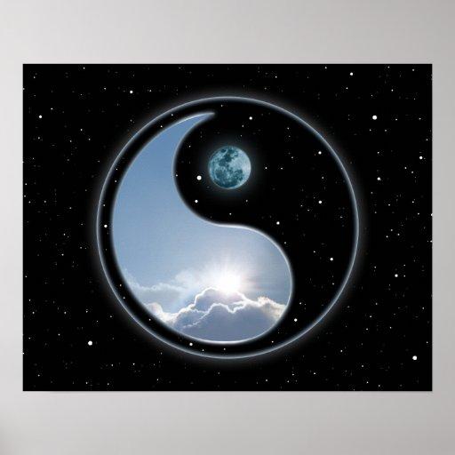 Yin Yang Moon Sun Print