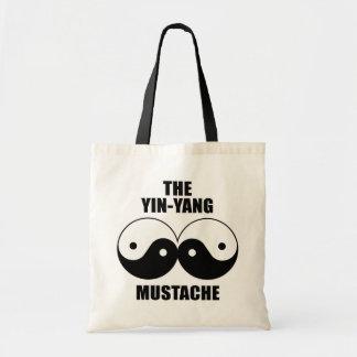 Yin-Yang Mustache Tote Bag