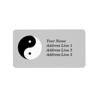 Yin Yang Name Address Mailing or Name Tag Label Address Label