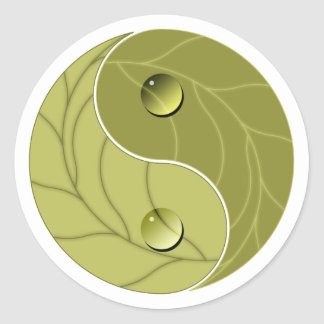 Yin Yang Nature Classic Round Sticker