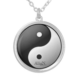 Yin &Yang Necklace-by AligN Silver Plated Necklace