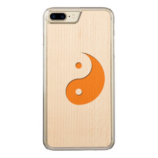 Yin Yang - orange 1 Carved iPhone 7 Plus Case