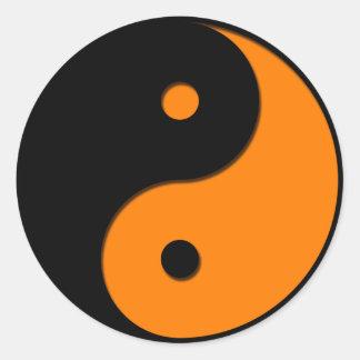 Yin Yang - orange 1 Round Sticker