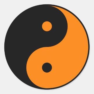 Yin Yang - orange 2 Round Sticker