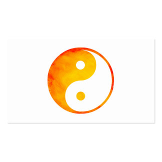 Yin Yang Orange and Yellow Watercolor Chinese Pack Of Standard Business Cards