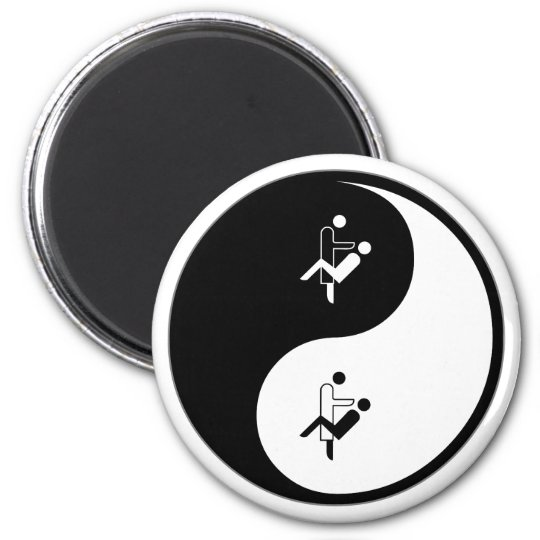Yin Yang Orthodontics 6 Cm Round Magnet