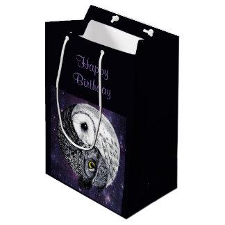 Yin Yang Owls Medium Gift Bag