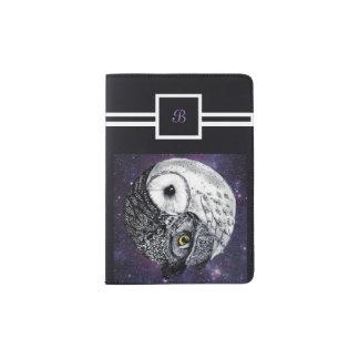 Yin Yang Owls Passport Holder
