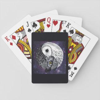 Yin Yang Owls Playing Cards