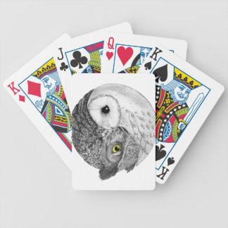 Yin Yang Owls Poker Deck