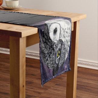 Yin Yang Owls Short Table Runner