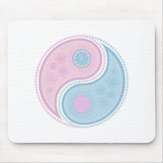 Yin Yang Paisley Design Mouse Pad