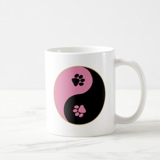 Yin Yang Paws Pink Coffee Mug