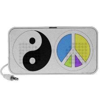Yin Yang/Peace Symbol Speaker