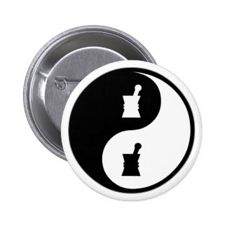 Yin Yang Pharmacology 6 Cm Round Badge