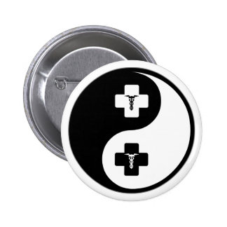 Yin Yang Phlebotomy 6 Cm Round Badge