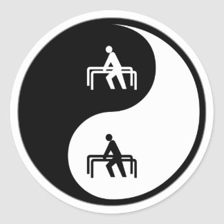Yin Yang Physical Therapy Classic Round Sticker