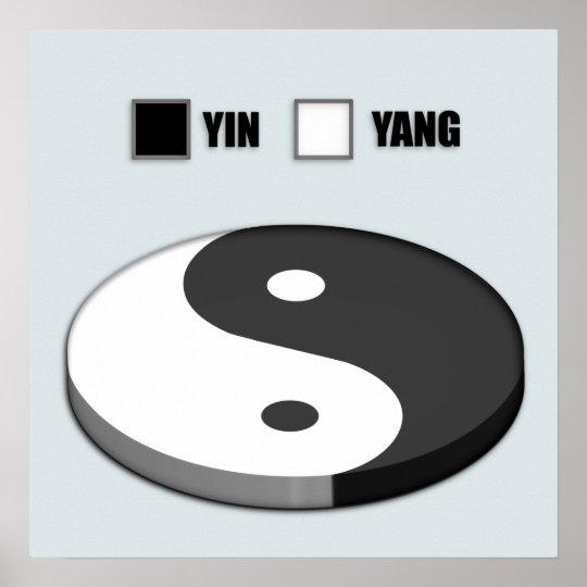 Yin Yang Pie Chart Poster