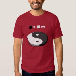 Yin Yang Pie Chart Tees