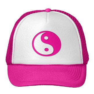 Yin-Yang-Pink-White Cap