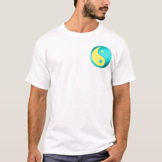 Yin-Yang, pocket, blue & lt. blue T-Shirt
