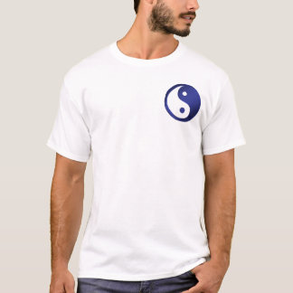 Yin-Yang, pocket, deep blue & white T-Shirt