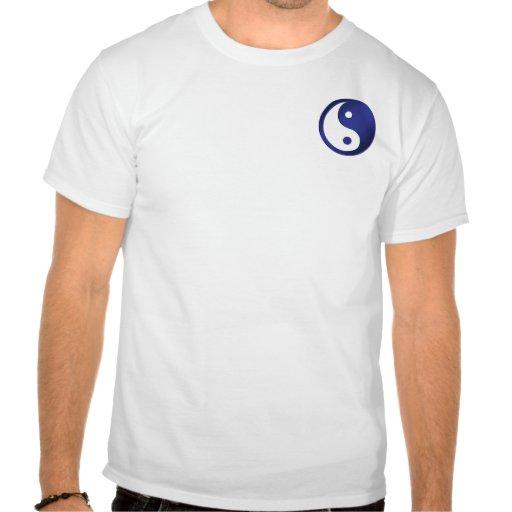 Yin-Yang, pocket, deep blue & white Tee Shirts