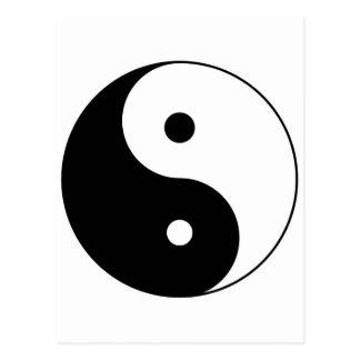 yin yang postcards