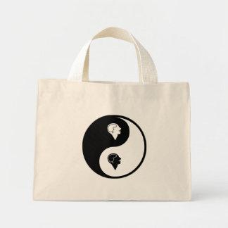 Yin Yang Psychology Canvas Bags