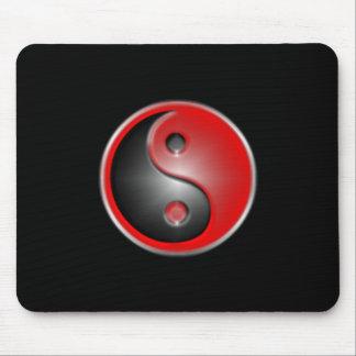 yin-yang-red mouse mat
