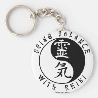 Yin Yang Reiki Kanji Basic Round Button Key Ring