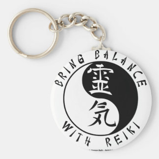 Yin Yang Reiki Kanji Key Ring