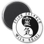 Yin Yang Reiki Kanji Magnet