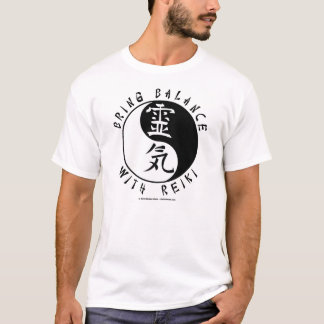 Yin Yang Reiki Kanji T-Shirt