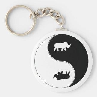 Yin Yang Rhinoceros Key Ring