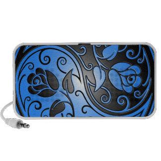 Yin Yang Roses, blue and black Mini Speakers