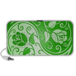 Yin Yang Roses, green Laptop Speakers