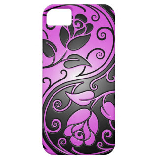 Yin Yang Roses purple and black iPhone 5 Covers